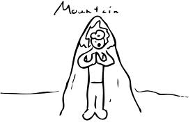 Image result for Mountain pose cartoon